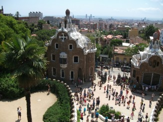Barcelona-Parc Guell, intrarea