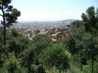 Barcelona-Parc Guell, catre mare