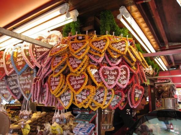 Munchen, Oktoberfest: turta dulce cu mesaje