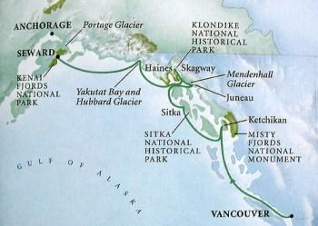 Ruta de Croaziera in Alaska