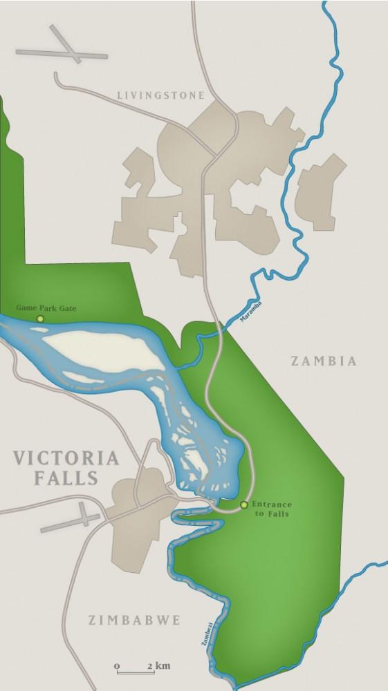 Карта где находится водопад